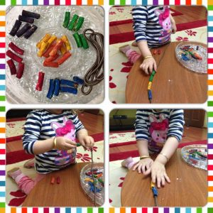 make rainbow necklaces