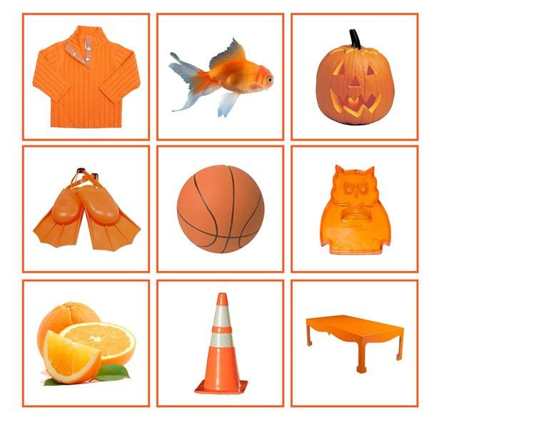 orange color matching 2 preschool and homeschool. Black Bedroom Furniture Sets. Home Design Ideas