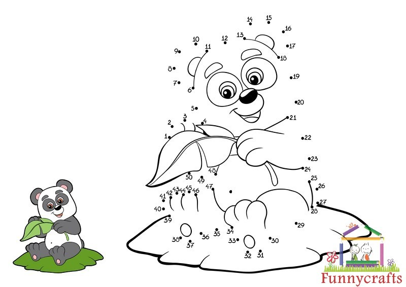 Panda Dot To Dots Sheet on Printable Science Coloring Sheets