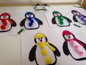 penguin match file folder game