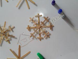popsicle stick snowflake art