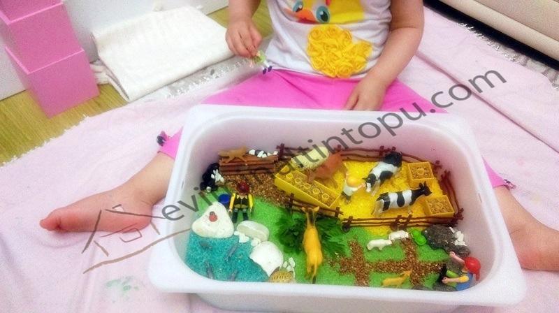 preschool farm activities and sensory play ıdeas