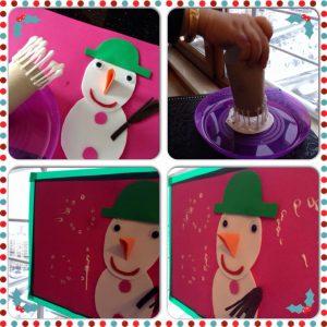 snowman theme, winter activities