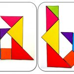 Tangram letters of the alphabet