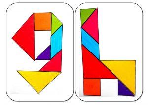 tangram alphabet G-H