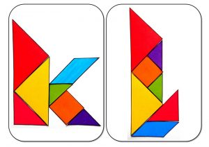 tangram alphabet K-L