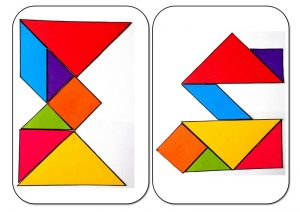 tangram alphabet M-N