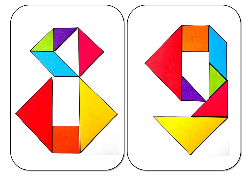 tangram numbers eight and nine « Preschool and Homeschool