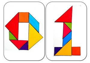 tangram numbers zero and one