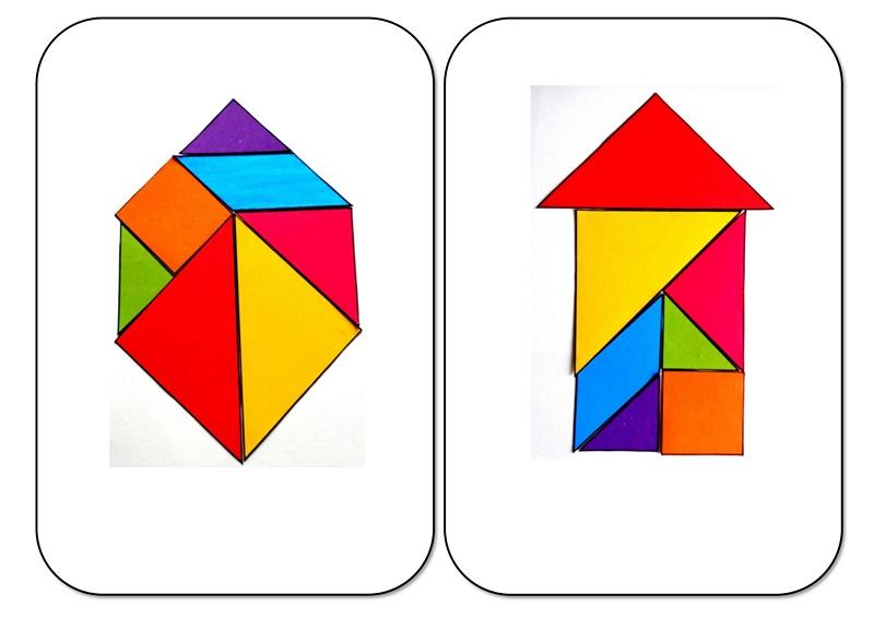 Tangram Shapes 2 Funnycrafts