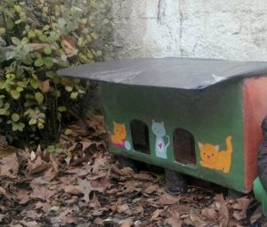 thousands of ideas about cardboard cat house
