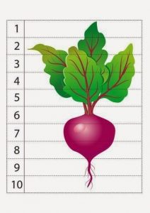 vegatables number puzzles (5)