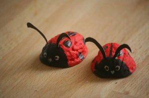walnut shell animal craft idea for kids