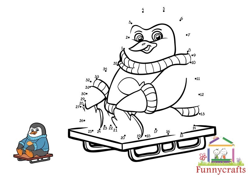 Winter Penguin Dot To Dots Sheet « Preschool And Homeschool