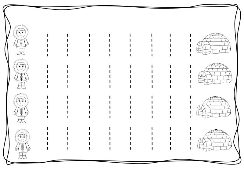 Vertical Tracing Line Sheets on printable preschool worksheets alphabet