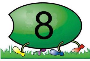 caterpillar number  cards (10)