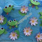 Frog craft idea for preschoolers