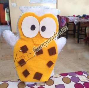 owl puppet with felt (1)