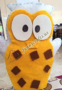 owl puppet with felt (3)