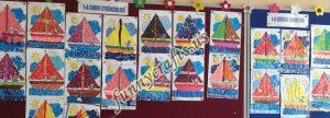 paper boat class decorations (2)
