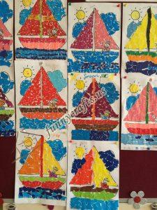paper boat class decorations (3)