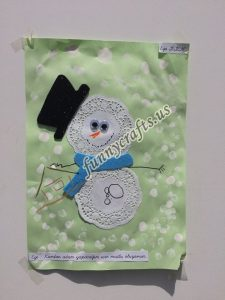 paper doilies  winter craft