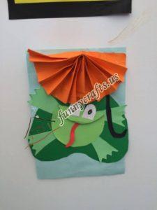 paper frog craft