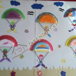 Parachute craft for preschoolers