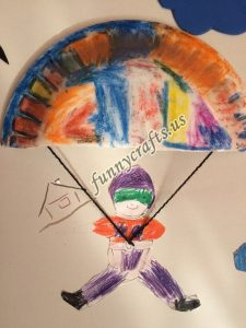 paper plate parachute craft for preschoolers (3)