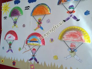 paper plate parachute craft for preschoolers (6)