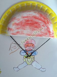 paper plate parachute craft for preschoolers (8)