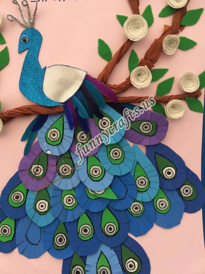 Peacock Crafts Preschool Homeschool