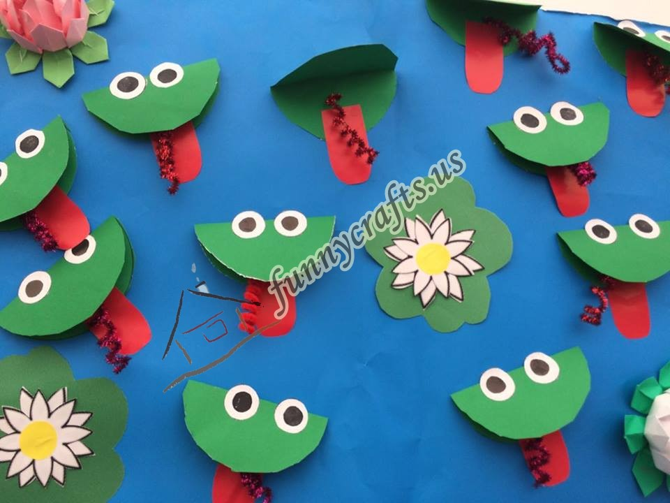 Preschool frog themed crafts 1 preschool and homeschool for Frog crafts for preschoolers