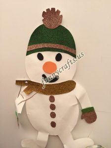 snowman craft with paper (1)