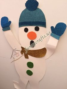 snowman craft with paper (3)