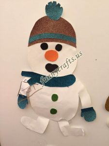 snowman craft with paper (4)