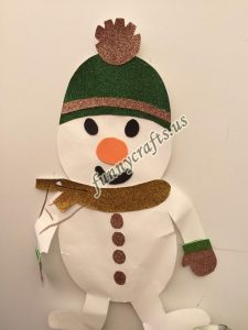 snowman craft with paper (5)