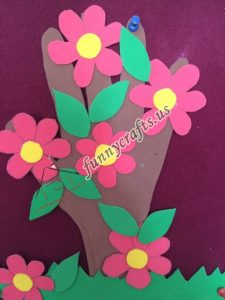 spring craft with paper