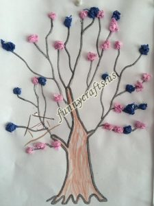 tissue paper tree art actvities (1)