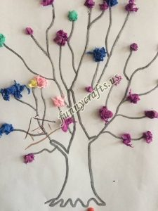 tissue paper tree art actvities (10)