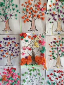 tissue paper tree art actvities (11)