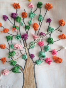 tissue paper tree art actvities (12)
