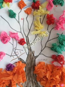 tissue paper tree art actvities (13)