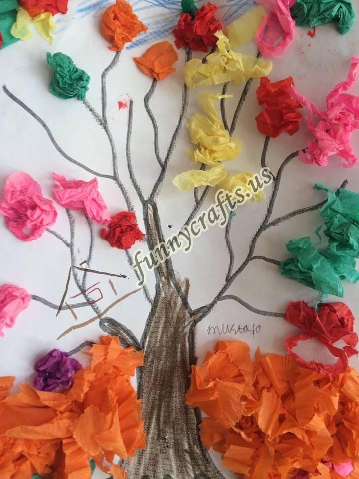 Spring Tree Craft Funny Crafts