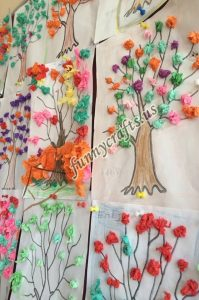 tissue paper tree art actvities (2)