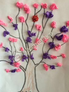 tissue paper tree art actvities (3)