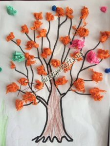 tissue paper tree art actvities (4)