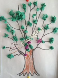 tissue paper tree art actvities (5)