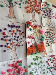 tissue paper tree art actvities (6)