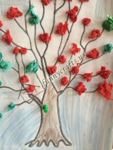 tissue paper tree art actvities (7)